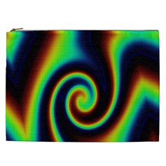 Background Colorful Vortex In Structure Cosmetic Bag (xxl)  by Simbadda