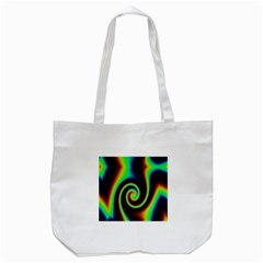 Background Colorful Vortex In Structure Tote Bag (white) by Simbadda