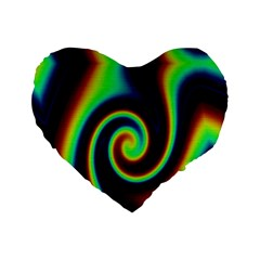 Background Colorful Vortex In Structure Standard 16  Premium Flano Heart Shape Cushions by Simbadda