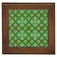 Digital Computer Graphic Seamless Geometric Ornament Framed Tiles by Simbadda