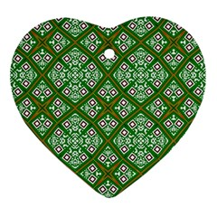 Digital Computer Graphic Seamless Geometric Ornament Ornament (heart) by Simbadda