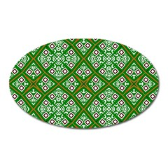 Digital Computer Graphic Seamless Geometric Ornament Oval Magnet by Simbadda