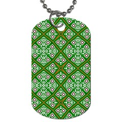 Digital Computer Graphic Seamless Geometric Ornament Dog Tag (one Side)