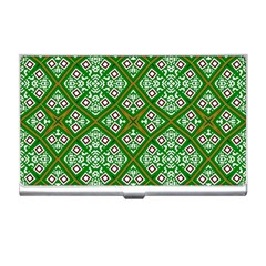 Digital Computer Graphic Seamless Geometric Ornament Business Card Holders by Simbadda