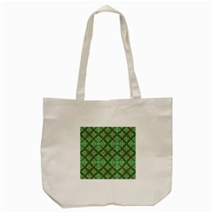 Digital Computer Graphic Seamless Geometric Ornament Tote Bag (cream) by Simbadda