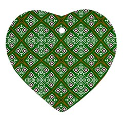 Digital Computer Graphic Seamless Geometric Ornament Heart Ornament (two Sides) by Simbadda