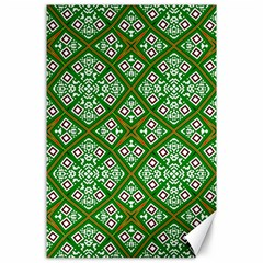 Digital Computer Graphic Seamless Geometric Ornament Canvas 24  X 36  by Simbadda