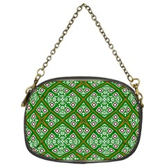 Digital Computer Graphic Seamless Geometric Ornament Chain Purses (one Side)  by Simbadda