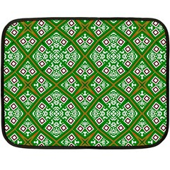 Digital Computer Graphic Seamless Geometric Ornament Double Sided Fleece Blanket (mini)  by Simbadda