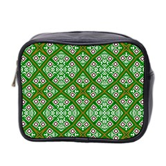 Digital Computer Graphic Seamless Geometric Ornament Mini Toiletries Bag 2 Side by Simbadda