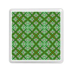 Digital Computer Graphic Seamless Geometric Ornament Memory Card Reader (square)  by Simbadda