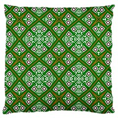 Digital Computer Graphic Seamless Geometric Ornament Large Cushion Case (one Side) by Simbadda