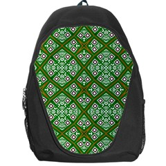 Digital Computer Graphic Seamless Geometric Ornament Backpack Bag by Simbadda