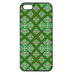 Digital Computer Graphic Seamless Geometric Ornament Apple Iphone 5 Seamless Case (black) by Simbadda