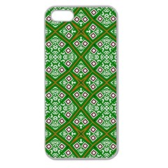 Digital Computer Graphic Seamless Geometric Ornament Apple Seamless Iphone 5 Case (clear) by Simbadda