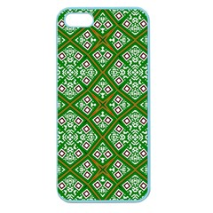 Digital Computer Graphic Seamless Geometric Ornament Apple Seamless Iphone 5 Case (color) by Simbadda