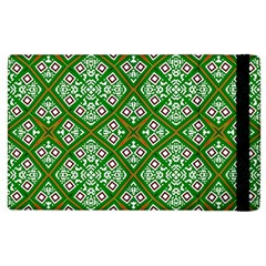 Digital Computer Graphic Seamless Geometric Ornament Apple Ipad 2 Flip Case by Simbadda