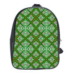 Digital Computer Graphic Seamless Geometric Ornament School Bags (xl)  by Simbadda