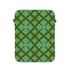 Digital Computer Graphic Seamless Geometric Ornament Apple Ipad 2/3/4 Protective Soft Cases by Simbadda