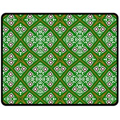 Digital Computer Graphic Seamless Geometric Ornament Double Sided Fleece Blanket (medium)  by Simbadda