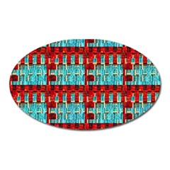 Architectural Abstract Pattern Oval Magnet by Simbadda
