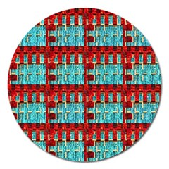Architectural Abstract Pattern Magnet 5  (round) by Simbadda
