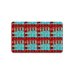 Architectural Abstract Pattern Magnet (name Card) by Simbadda