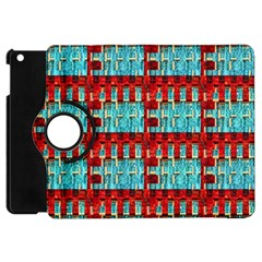 Architectural Abstract Pattern Apple Ipad Mini Flip 360 Case by Simbadda