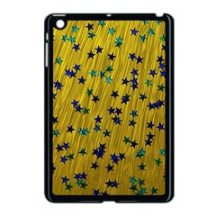 Abstract Gold Background With Blue Stars Apple Ipad Mini Case (black) by Simbadda