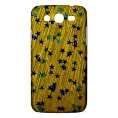 Abstract Gold Background With Blue Stars Samsung Galaxy Mega 5 8 I9152 Hardshell Case  by Simbadda