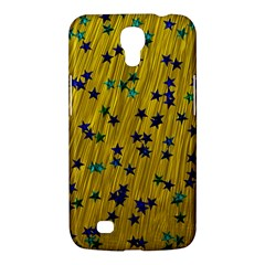 Abstract Gold Background With Blue Stars Samsung Galaxy Mega 6 3  I9200 Hardshell Case by Simbadda