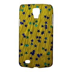 Abstract Gold Background With Blue Stars Galaxy S4 Active by Simbadda