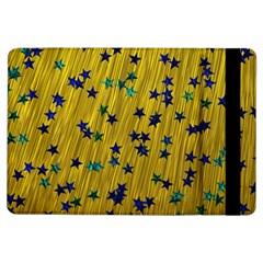 Abstract Gold Background With Blue Stars Ipad Air Flip by Simbadda