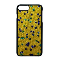 Abstract Gold Background With Blue Stars Apple Iphone 7 Plus Seamless Case (black)