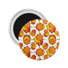 Colorful Stylized Floral Pattern 2 25  Magnets by dflcprints