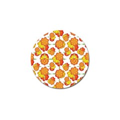 Colorful Stylized Floral Pattern Golf Ball Marker (4 Pack) by dflcprints