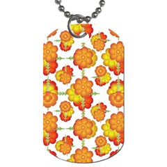 Colorful Stylized Floral Pattern Dog Tag (two Sides) by dflcprints