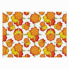 Colorful Stylized Floral Pattern Large Glasses Cloth (2 Side) by dflcprints