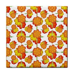 Colorful Stylized Floral Pattern Face Towel by dflcprints