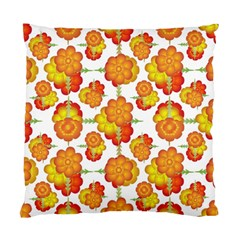 Colorful Stylized Floral Pattern Standard Cushion Case (one Side) by dflcprints
