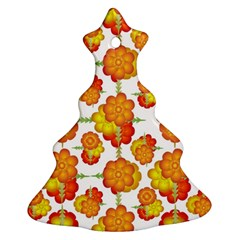 Colorful Stylized Floral Pattern Ornament (christmas Tree)  by dflcprints