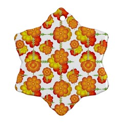 Colorful Stylized Floral Pattern Snowflake Ornament (two Sides) by dflcprints