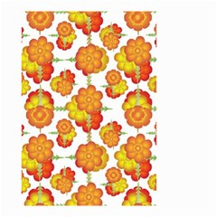 Colorful Stylized Floral Pattern Small Garden Flag (two Sides) by dflcprints