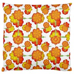 Colorful Stylized Floral Pattern Large Cushion Case (two Sides) by dflcprints