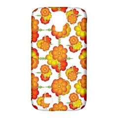 Colorful Stylized Floral Pattern Samsung Galaxy S4 Classic Hardshell Case (pc+silicone) by dflcprints