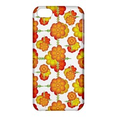 Colorful Stylized Floral Pattern Apple Iphone 5c Hardshell Case by dflcprints