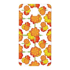 Colorful Stylized Floral Pattern Samsung Galaxy Note 3 N9005 Hardshell Back Case by dflcprints