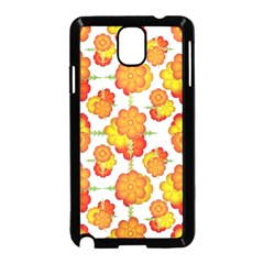 Colorful Stylized Floral Pattern Samsung Galaxy Note 3 Neo Hardshell Case (black) by dflcprints