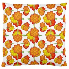 Colorful Stylized Floral Pattern Standard Flano Cushion Case (one Side) by dflcprints