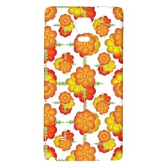 Colorful Stylized Floral Pattern Galaxy Note 4 Back Case by dflcprints